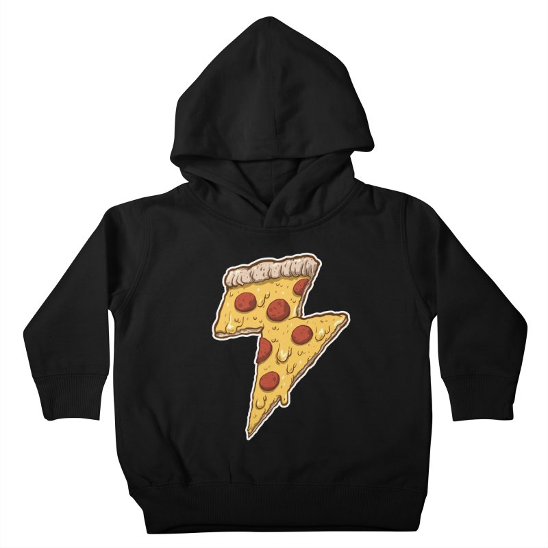 Thunder Cheesy Pizza Kids Toddler Pullover Hoody by exeivier's Artist Shop