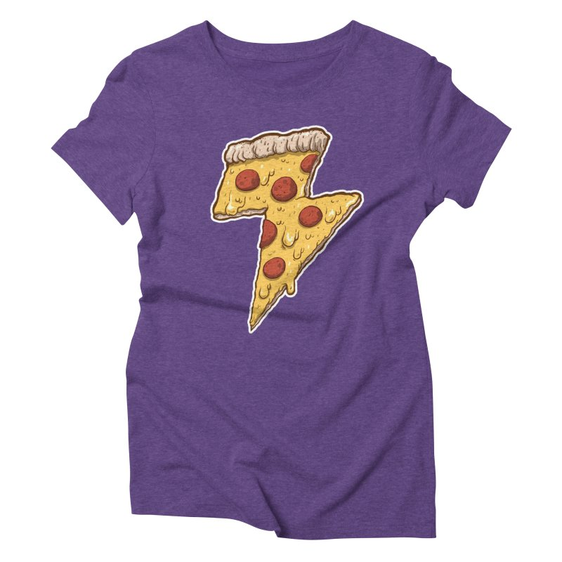 Thunder Cheesy Pizza Women's Triblend T-shirt by exeivier's Artist Shop