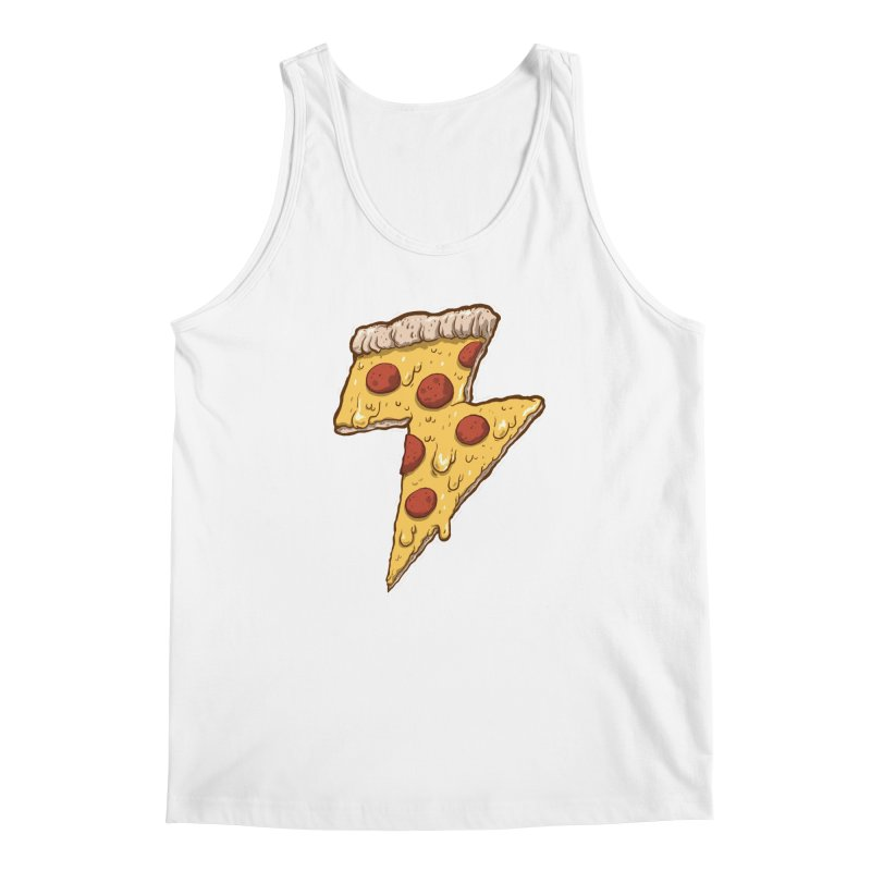 Thunder Cheesy Pizza Men's Tank by exeivier's Artist Shop