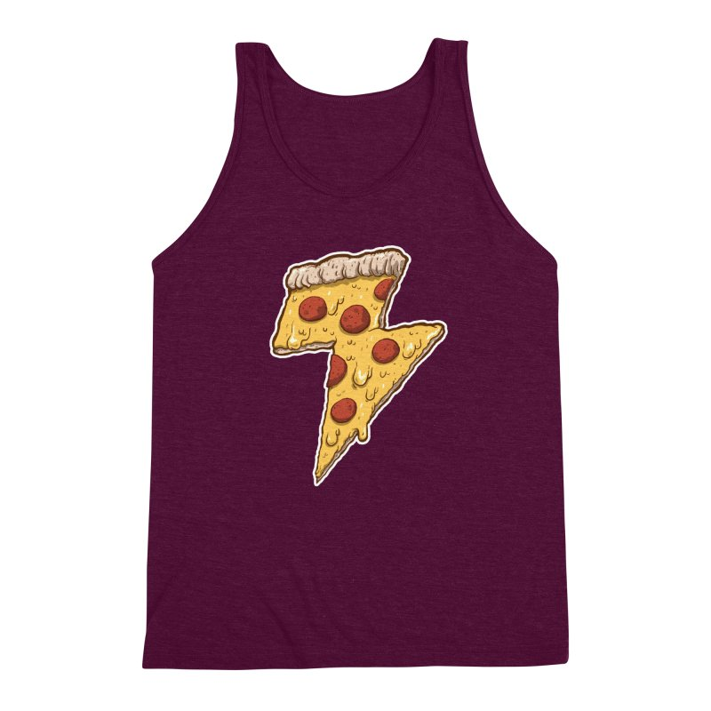 Thunder Cheesy Pizza Men's Triblend Tank by exeivier's Artist Shop