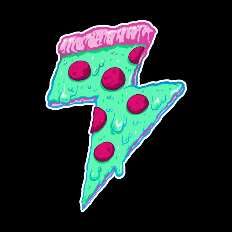 Thunder Neon Pizza by exeivier's Artist Shop