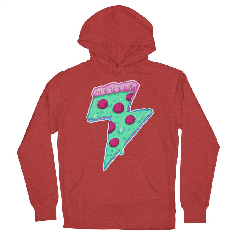 Thunder Neon Pizza Women's Pullover Hoody by exeivier's Artist Shop