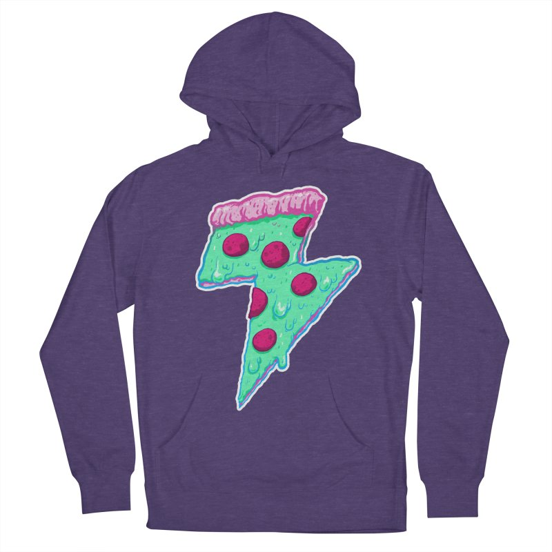 Thunder Neon Pizza Women's French Terry Pullover Hoody by exeivier's Artist Shop