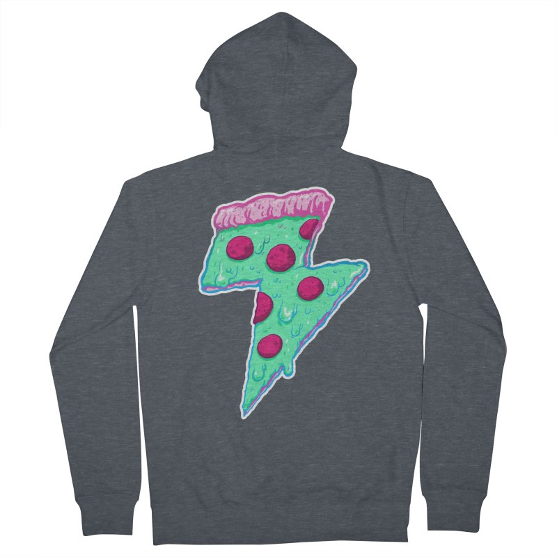 Thunder Neon Pizza Women's Zip-Up Hoody by exeivier's Artist Shop