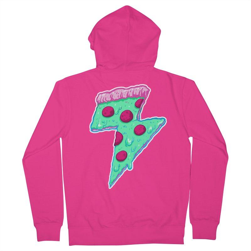 Thunder Neon Pizza Men's Zip-Up Hoody by exeivier's Artist Shop