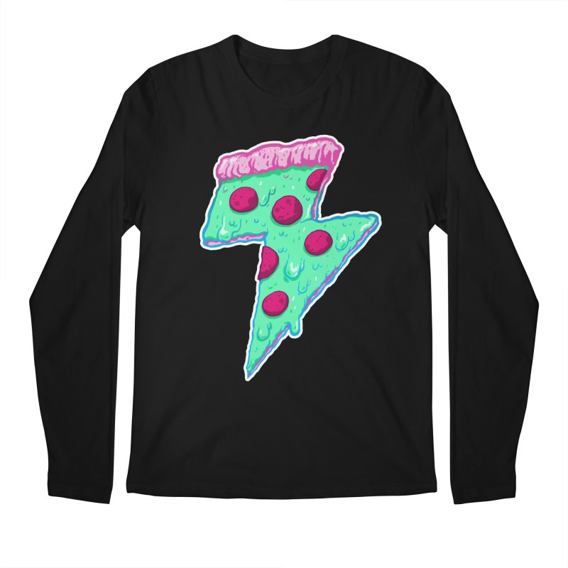Thunder Neon Pizza Men's Regular Longsleeve T-Shirt by exeivier's Artist Shop