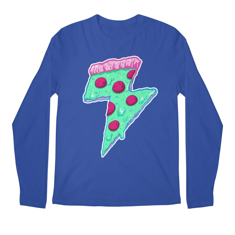 Thunder Neon Pizza Men's Longsleeve T-Shirt by exeivier's Artist Shop