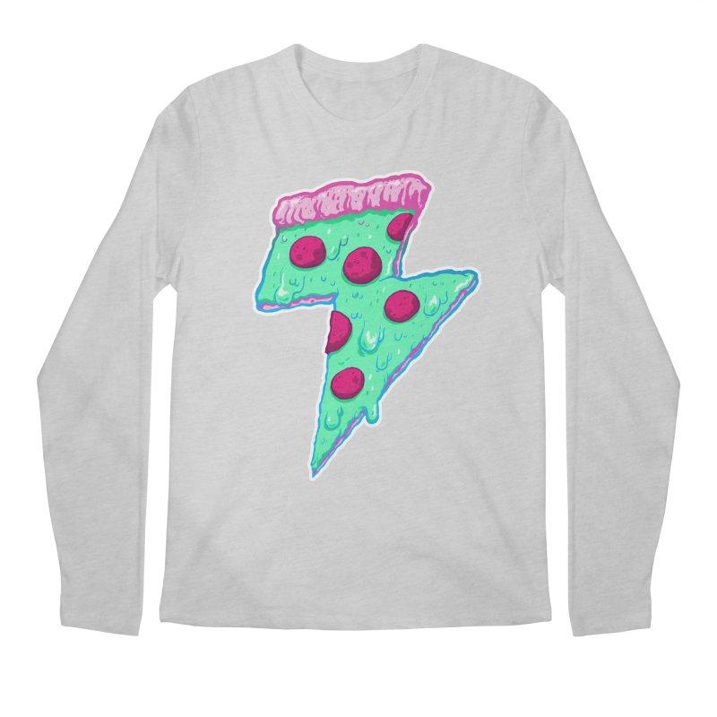Thunder Neon Pizza Men's Regular Longsleeve T-Shirt by exeivier's Artist Shop