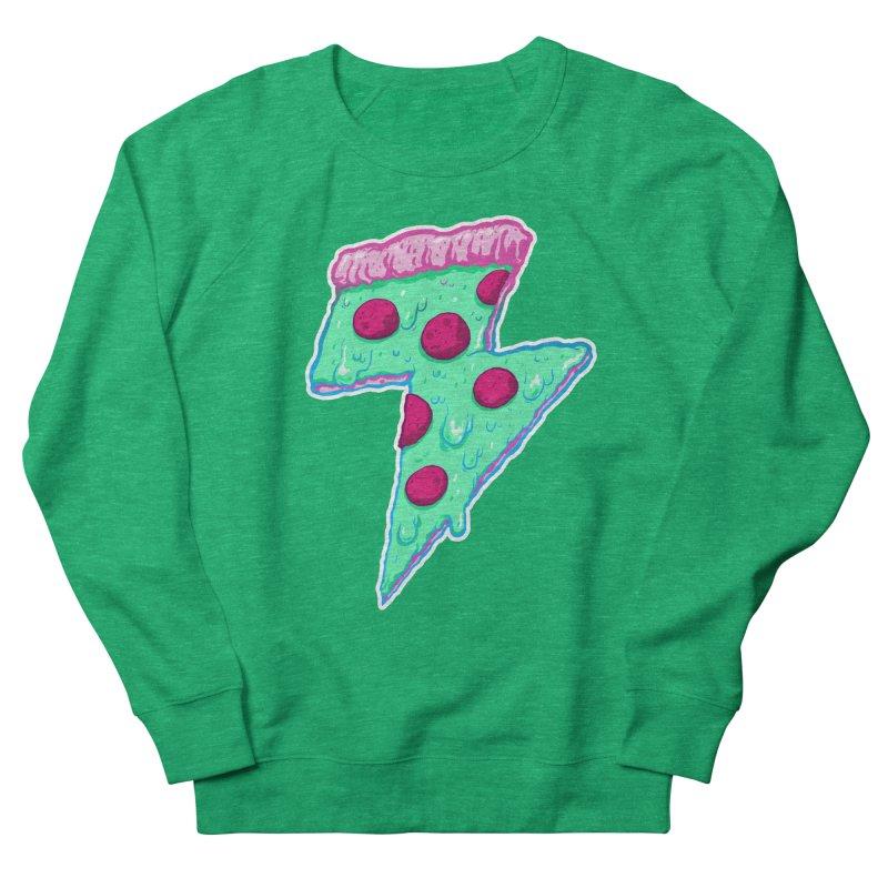 Thunder Neon Pizza Women's Sweatshirt by exeivier's Artist Shop
