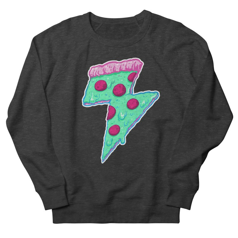 Thunder Neon Pizza Women's French Terry Sweatshirt by exeivier's Artist Shop