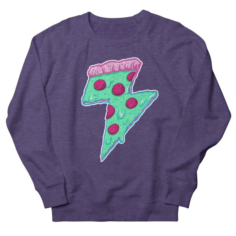 Thunder Neon Pizza Men's Sweatshirt by exeivier's Artist Shop
