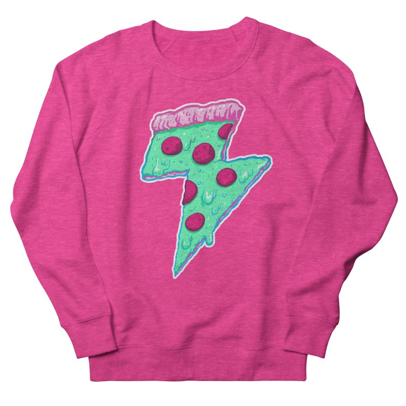 Thunder Neon Pizza Men's Sweatshirt by exeivier's Artist Shop
