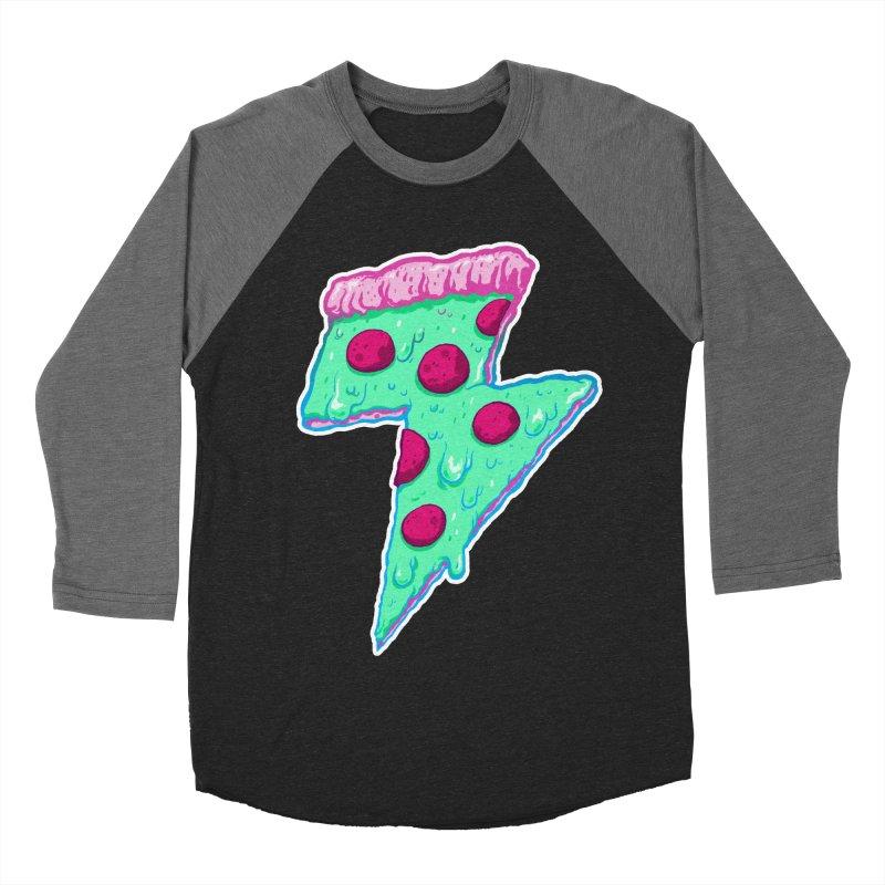 Thunder Neon Pizza Women's Baseball Triblend T-Shirt by exeivier's Artist Shop