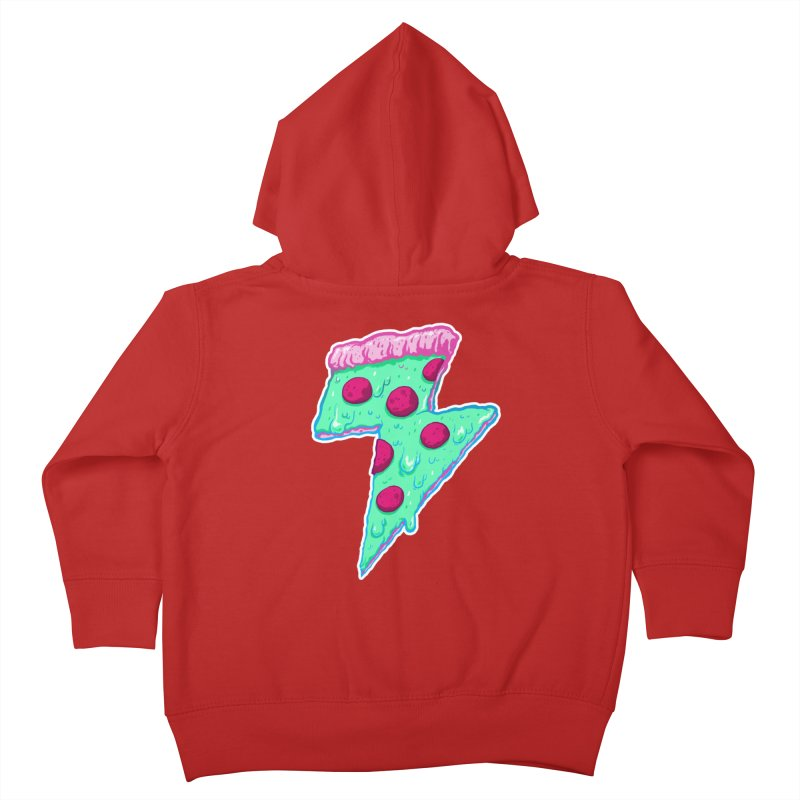 Thunder Neon Pizza Kids Toddler Zip-Up Hoody by exeivier's Artist Shop