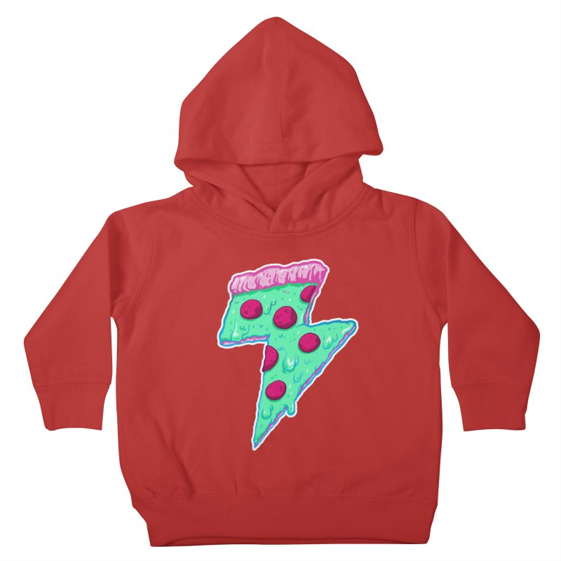 Thunder Neon Pizza Kids Toddler Pullover Hoody by exeivier's Artist Shop