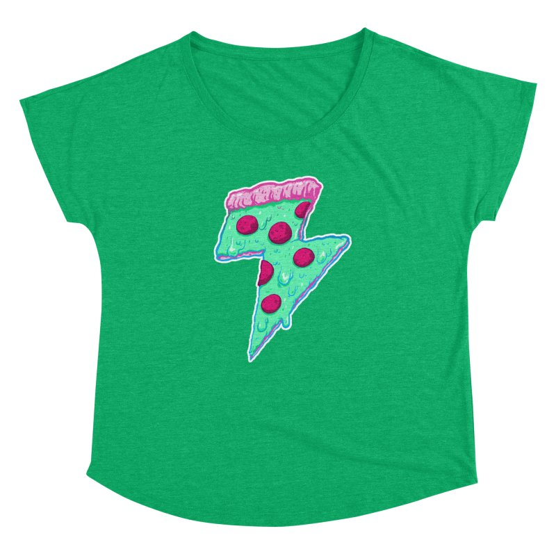 Thunder Neon Pizza Women's Dolman by exeivier's Artist Shop
