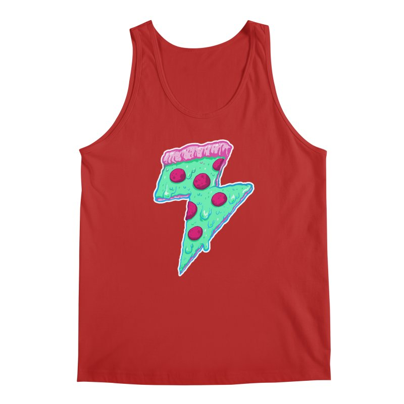 Thunder Neon Pizza Men's Tank by exeivier's Artist Shop