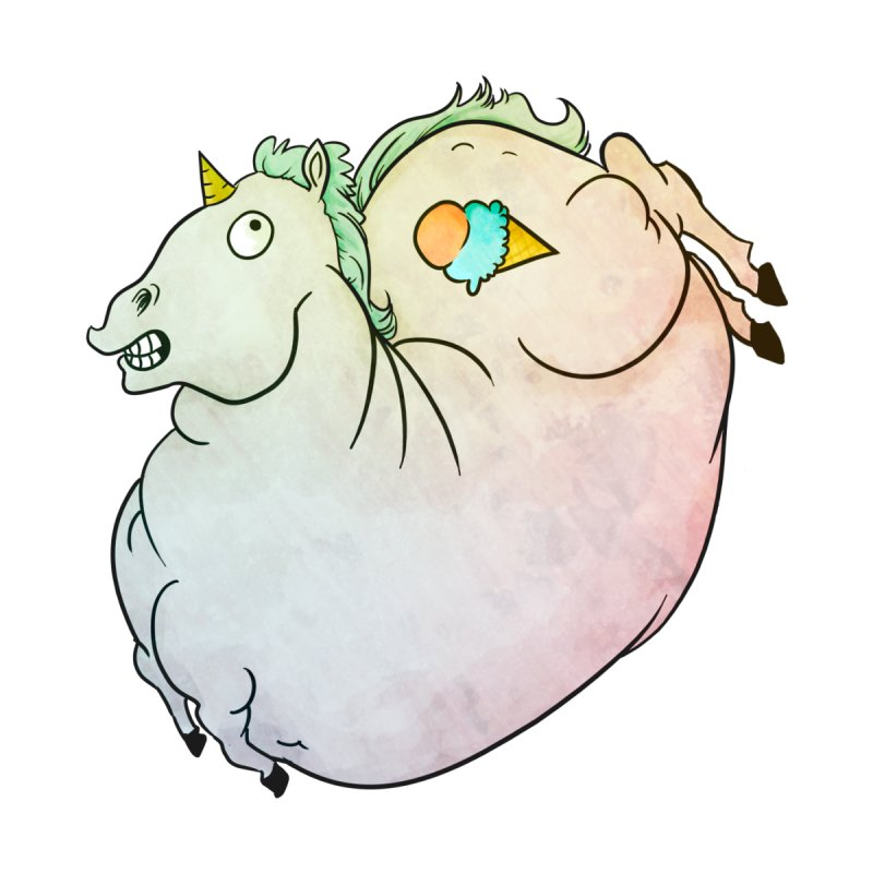 Fatty Unicorn   by exeivier's Artist Shop