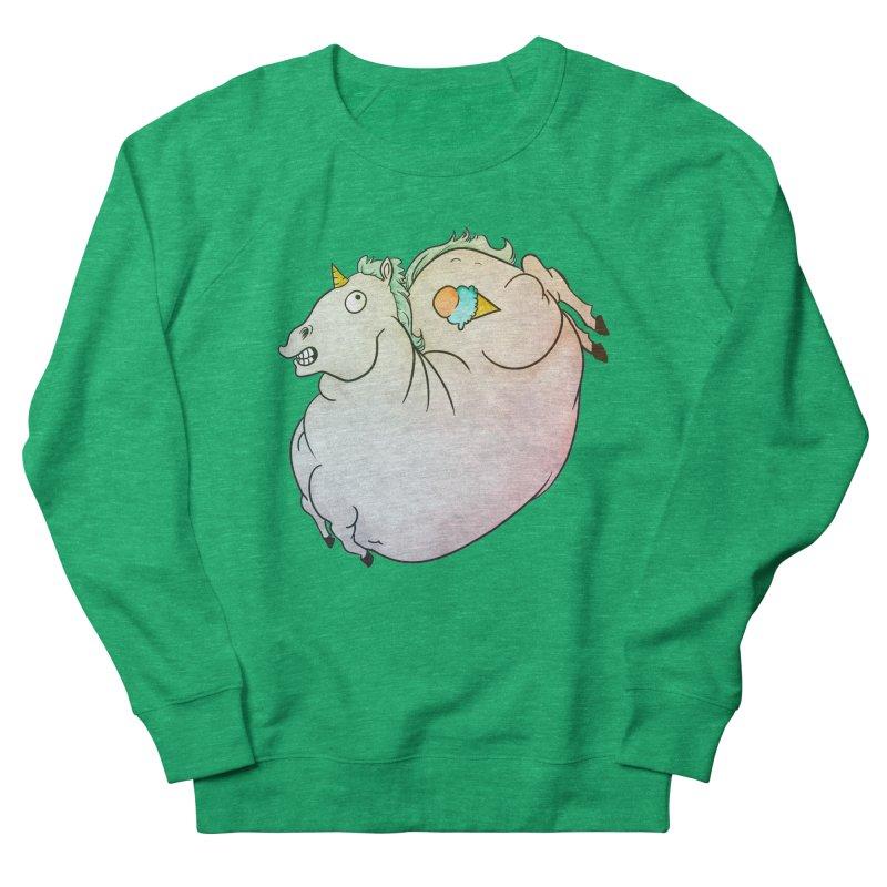 Fatty Unicorn Women's Sweatshirt by exeivier's Artist Shop