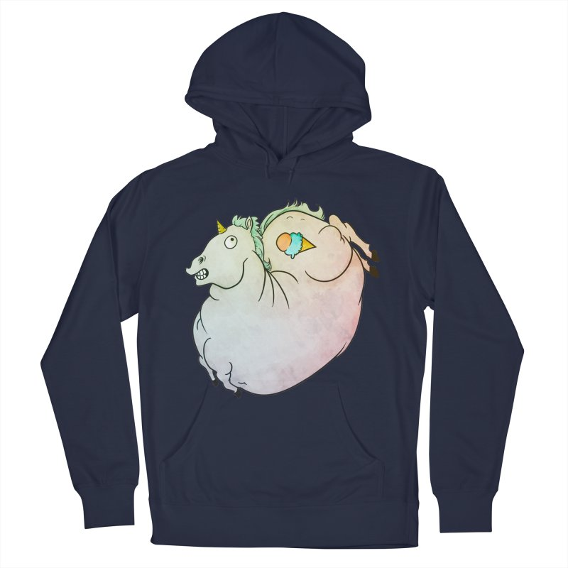 Fatty Unicorn Men's French Terry Pullover Hoody by exeivier's Artist Shop