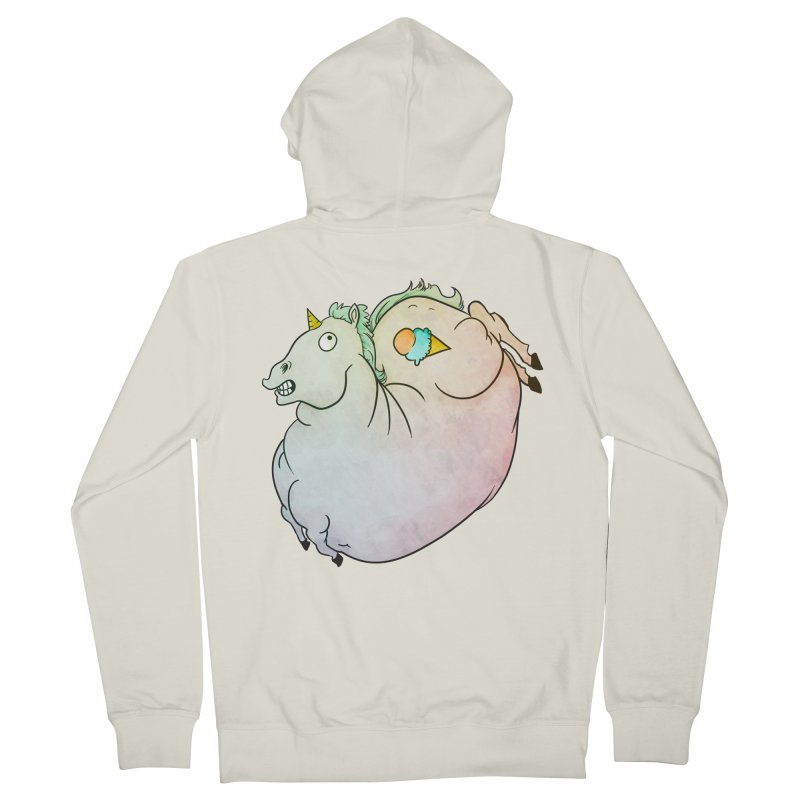 Fatty Unicorn Men's Zip-Up Hoody by exeivier's Artist Shop