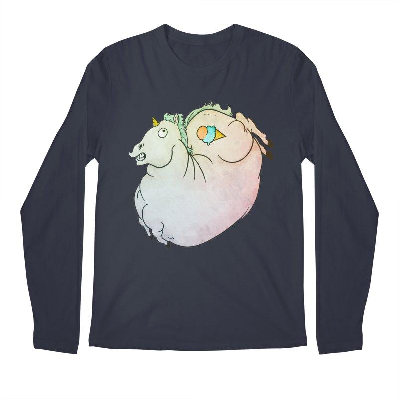 Fatty Unicorn Men's Regular Longsleeve T-Shirt by exeivier's Artist Shop