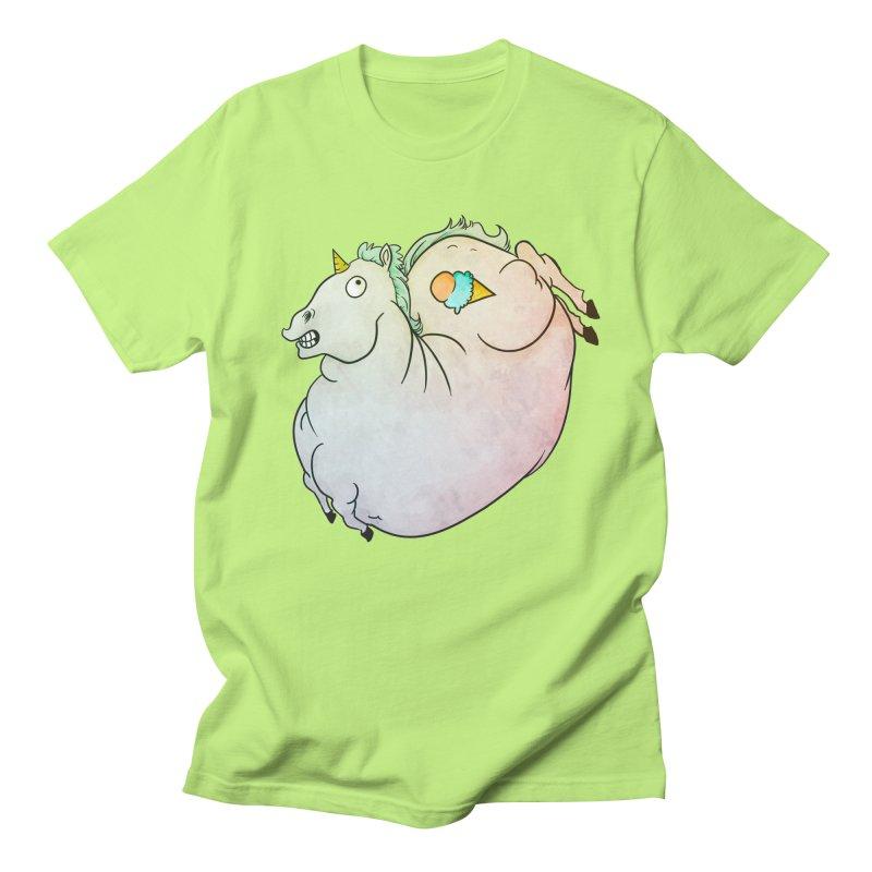 Fatty Unicorn Men's Regular T-Shirt by exeivier's Artist Shop