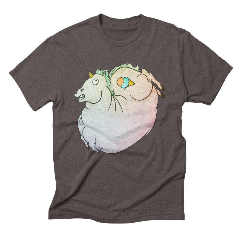 Fatty Unicorn Men's Triblend T-Shirt by exeivier's Artist Shop