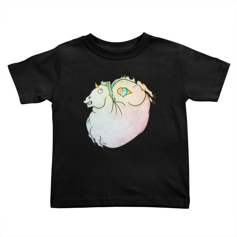 Fatty Unicorn Kids Toddler T-Shirt by exeivier's Artist Shop