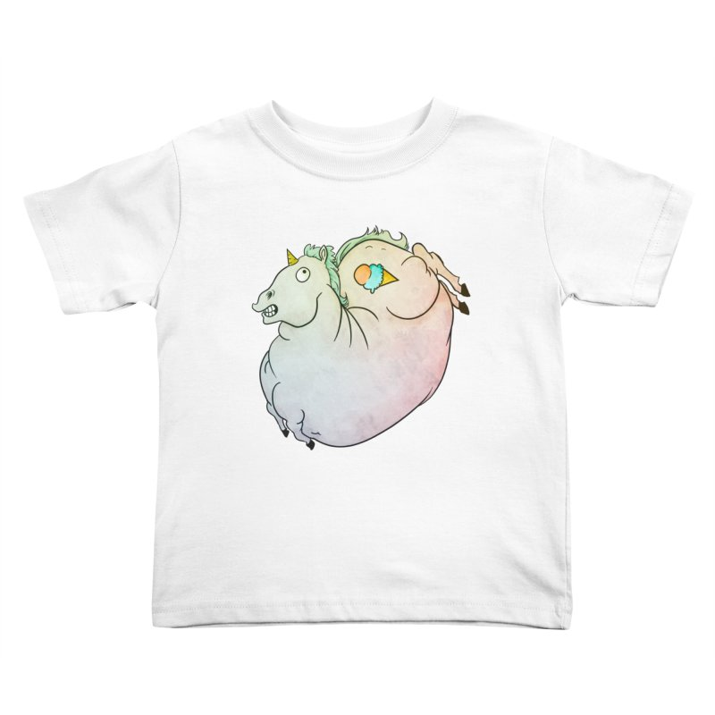 Fatty Unicorn Kids Toddler T-Shirt by exeivier's Artist Shop