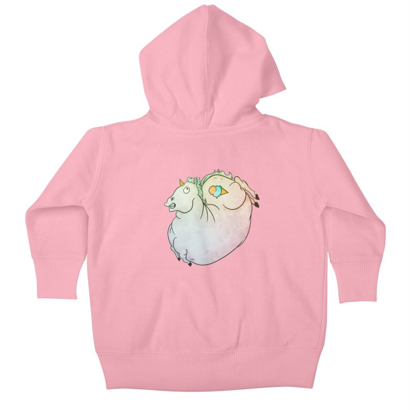 Fatty Unicorn Kids Baby Zip-Up Hoody by exeivier's Artist Shop