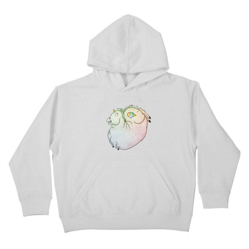 Fatty Unicorn Kids Pullover Hoody by exeivier's Artist Shop