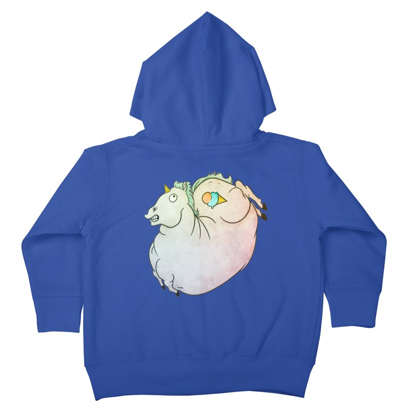 Fatty Unicorn Kids Toddler Zip-Up Hoody by exeivier's Artist Shop