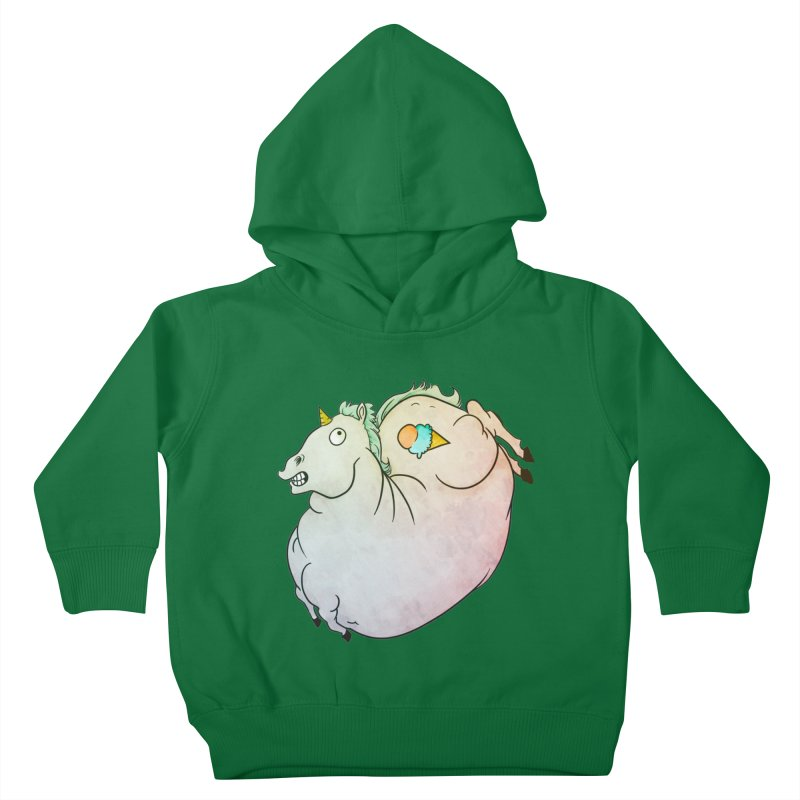 Fatty Unicorn Kids Toddler Pullover Hoody by exeivier's Artist Shop