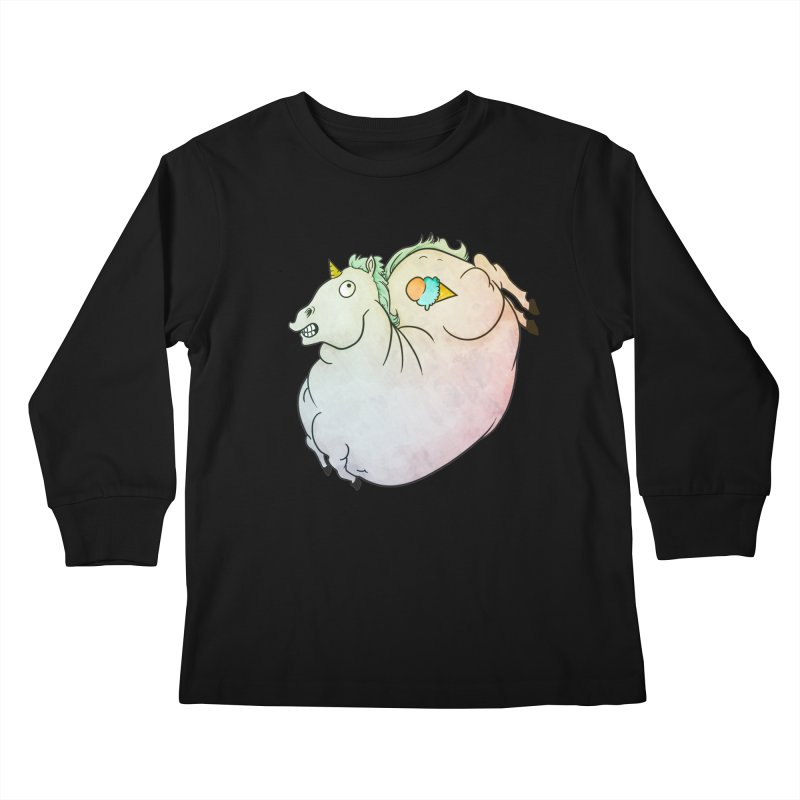 Fatty Unicorn Kids Longsleeve T-Shirt by exeivier's Artist Shop