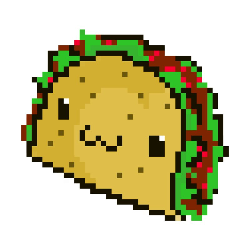 Pixel Taco None  by exeivier's Artist Shop