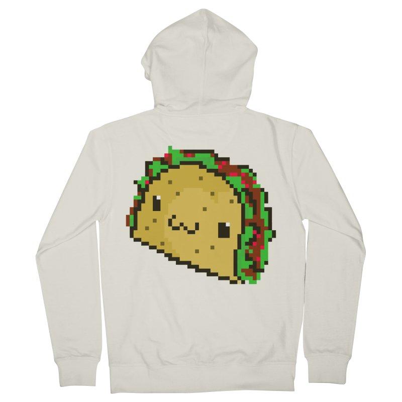 Pixel Taco Men's Zip-Up Hoody by exeivier's Artist Shop