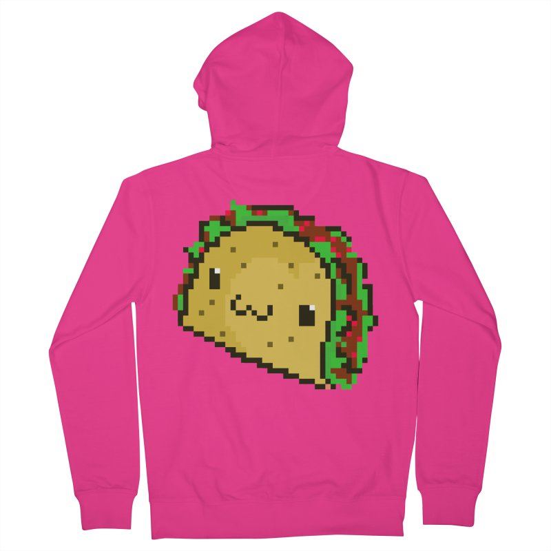Pixel Taco Men's French Terry Zip-Up Hoody by exeivier's Artist Shop