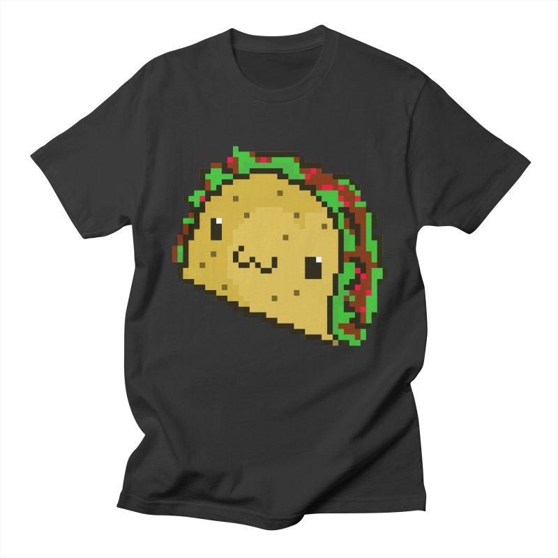 Pixel Taco Men's Regular T-Shirt by exeivier's Artist Shop