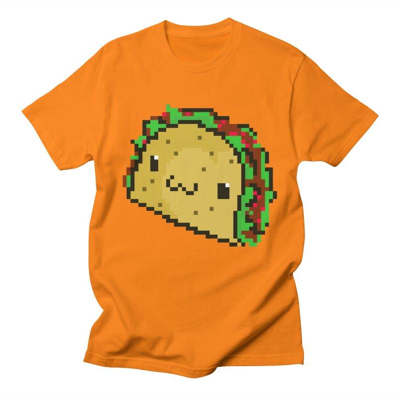 Pixel Taco Men's T-shirt by exeivier's Artist Shop