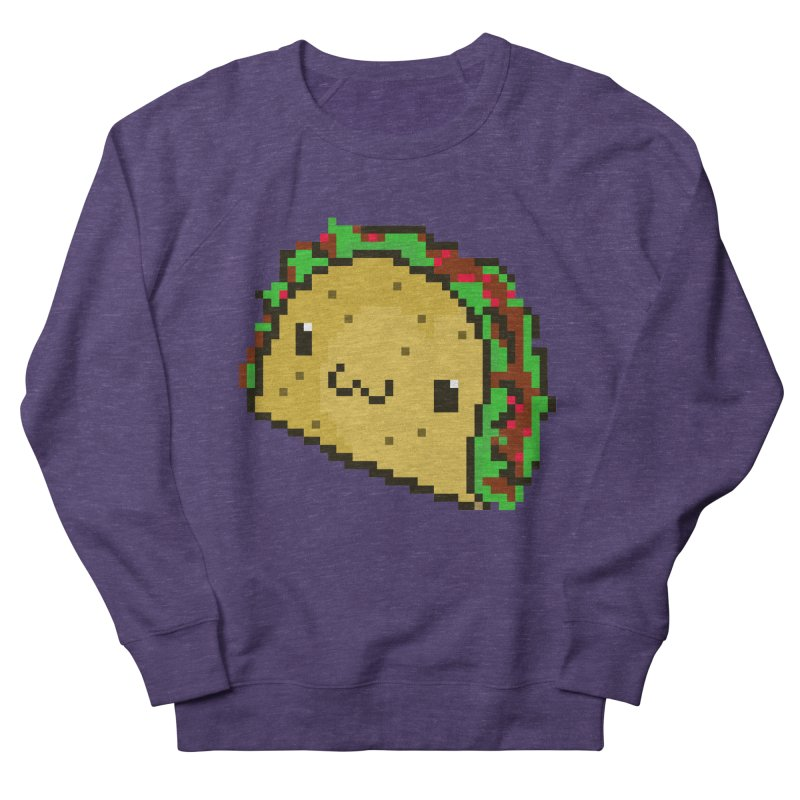 Pixel Taco Women's French Terry Sweatshirt by exeivier's Artist Shop