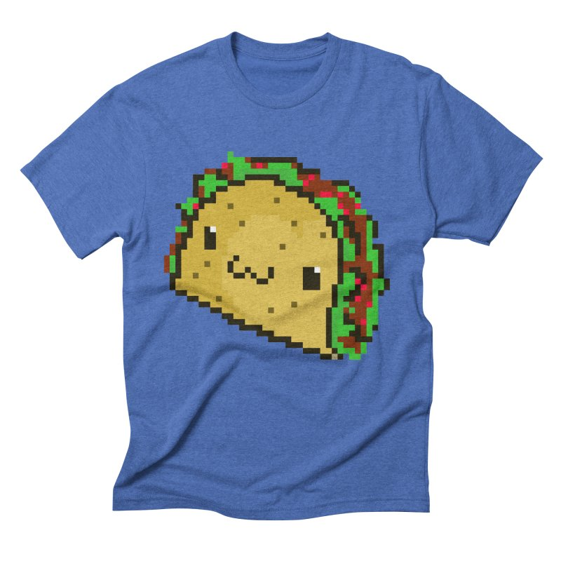 Pixel Taco Men's Triblend T-shirt by exeivier's Artist Shop