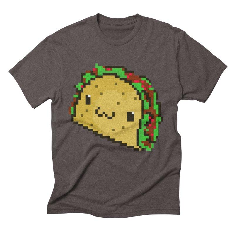 Pixel Taco Men's Triblend T-Shirt by exeivier's Artist Shop