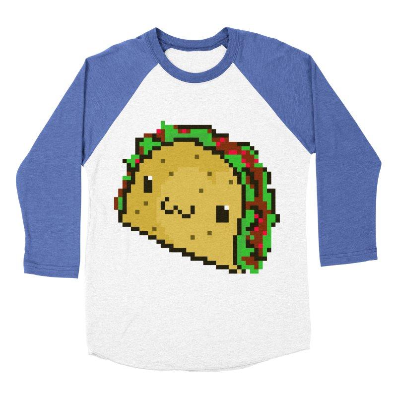Pixel Taco Women's Baseball Triblend T-Shirt by exeivier's Artist Shop