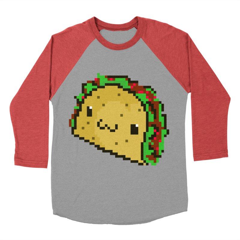 Pixel Taco Women's Baseball Triblend Longsleeve T-Shirt by exeivier's Artist Shop