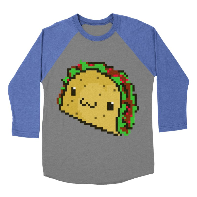 Pixel Taco Men's Baseball Triblend T-Shirt by exeivier's Artist Shop