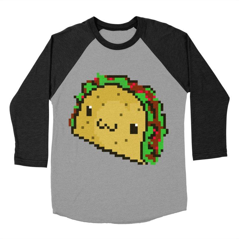 Pixel Taco Men's Baseball Triblend Longsleeve T-Shirt by exeivier's Artist Shop