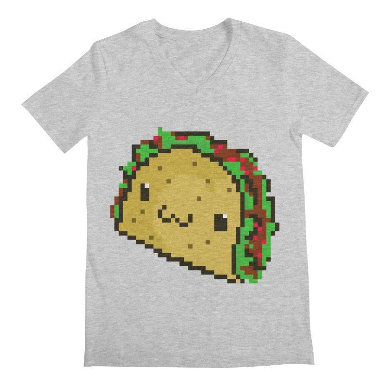 Pixel Taco Men's Regular V-Neck by exeivier's Artist Shop