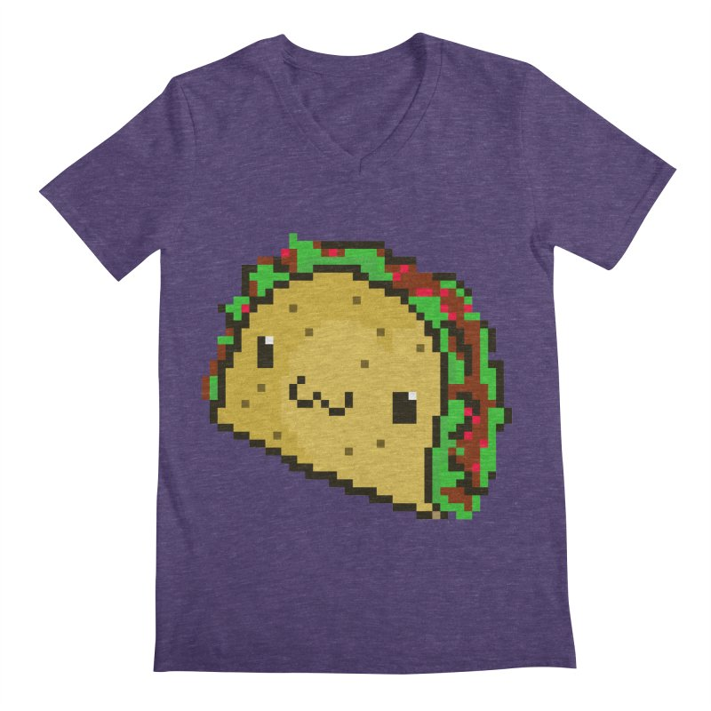 Pixel Taco Men's V-Neck by exeivier's Artist Shop