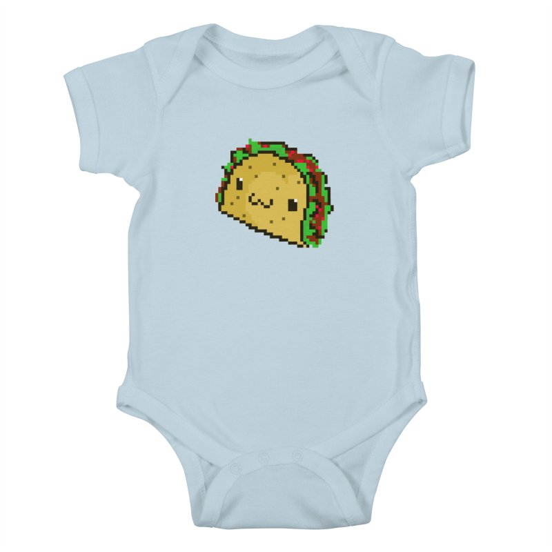 Pixel Taco Kids Baby Bodysuit by exeivier's Artist Shop